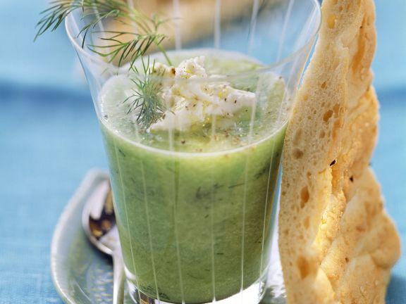 Gurken-Schafskäse-Gazpacho