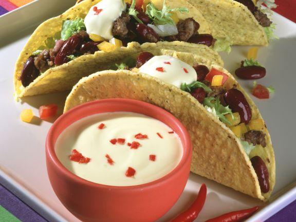 Hack-Bohnen-Tacos