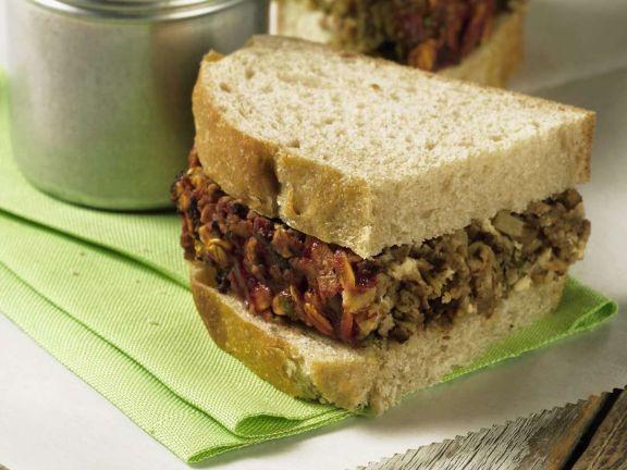 Hackbraten-Sandwich