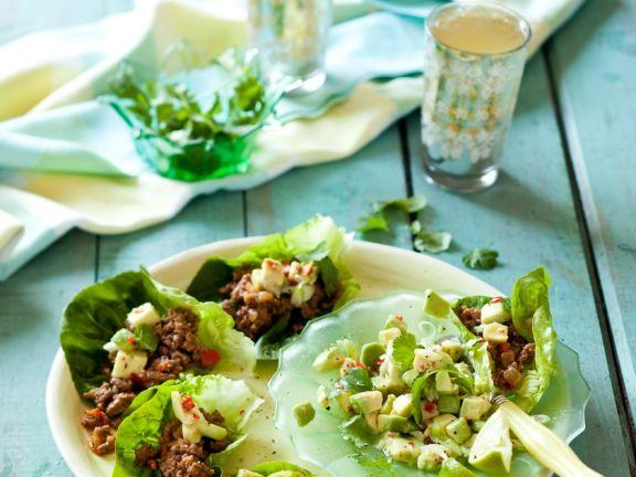 Hackfleisch-Avocado-Salat mit Chili