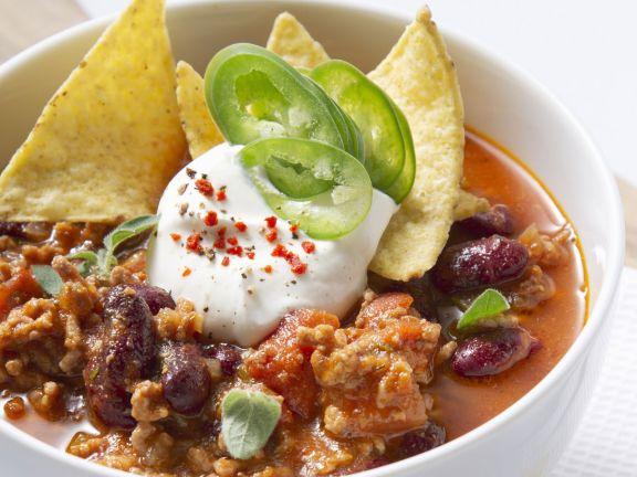Hackfleisch-Bohnen-Eintopf (Chili con carne)