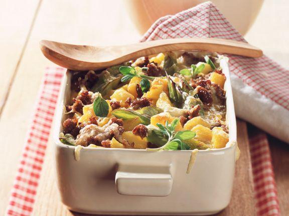 Rezept hackfleisch kartoffel lauch auflauf