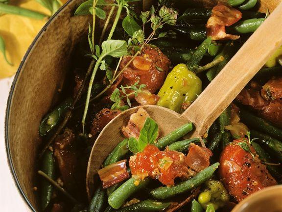Hackfleisch mit Bohnen und Tomaten