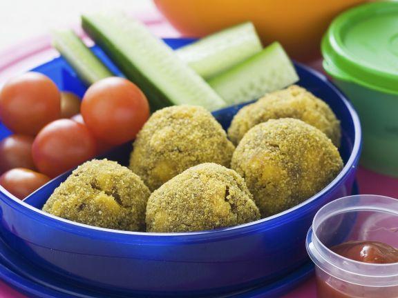 Hackklößchen und Gemüse