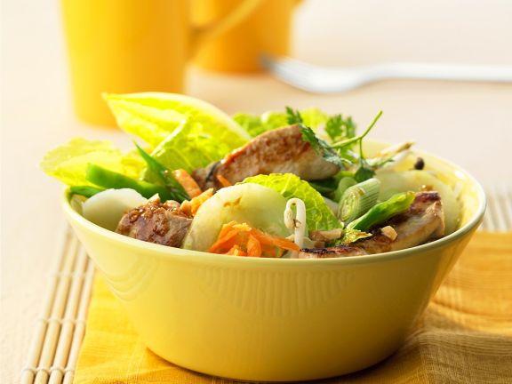 Hähnchen-Gemüsesalat