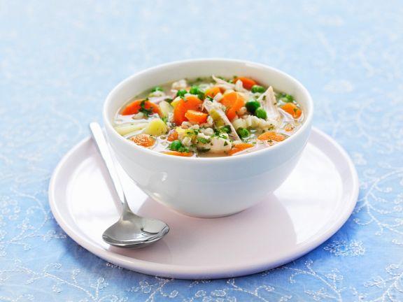 Hähnchen-Gemüsesuppe