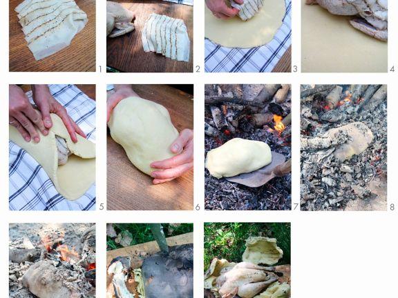 Hähnchen im Salzteig