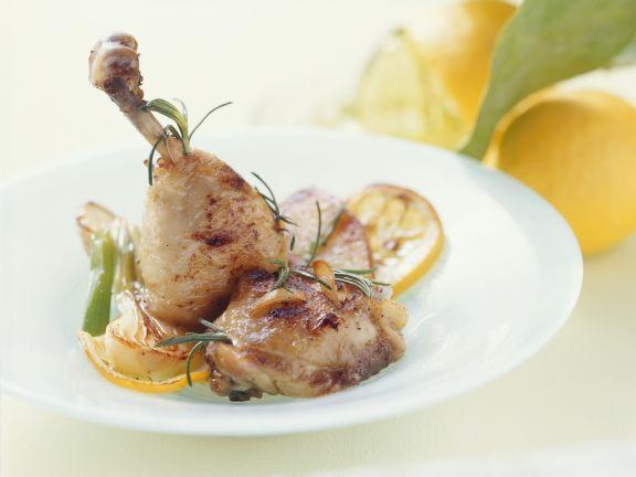 Hähnchen in Buttersauche mit Knoblauch und Rosmarin