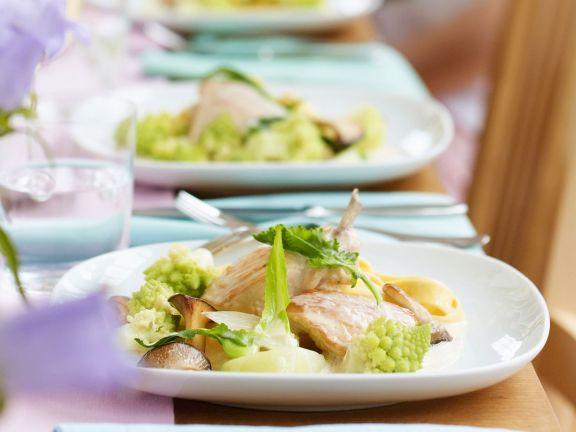 Hähnchen in Weißwein (Riesling)
