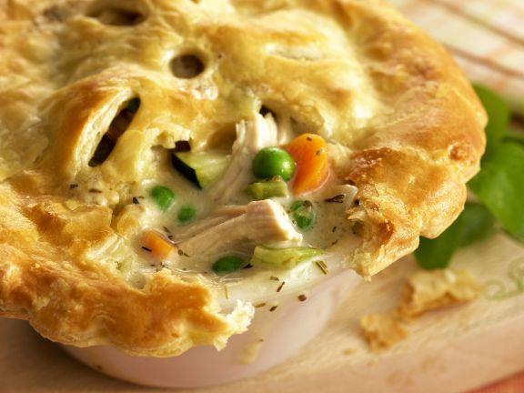 Hähnchen-Pie mit Gemüse