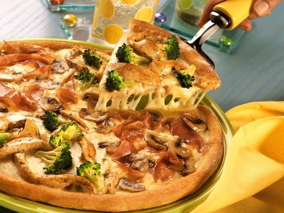 Hähnchen-Pizza