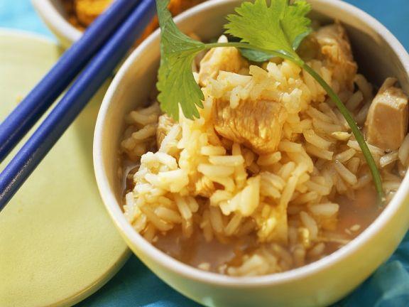 Hähnchen-Reissuppe