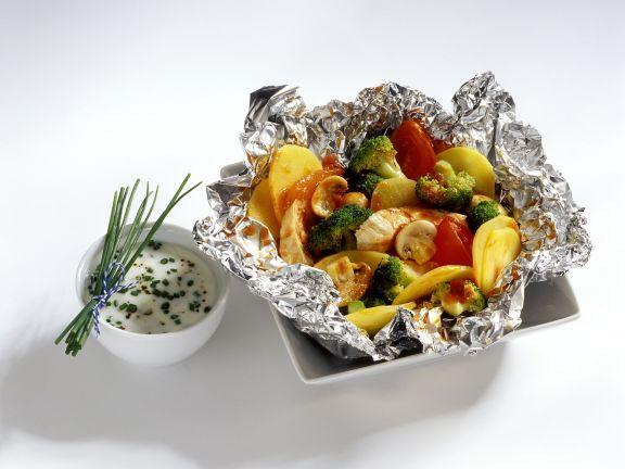 Hahnchen Und Gemuse Aus Der Folie Rezept Eat Smarter