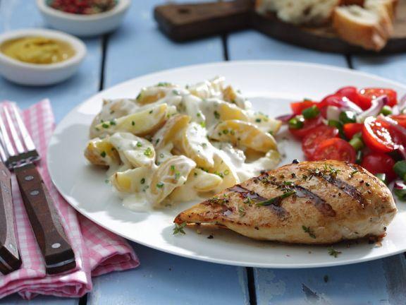Hähnchen vom Grill mit Kartoffelsalat