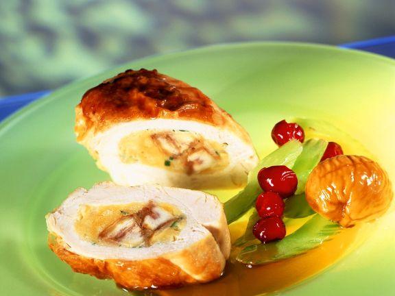Hähnchenbrust mit Brotfüllung