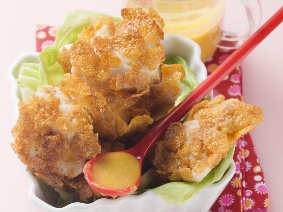 Hähnchenbrust mit Cornflakes-Panade