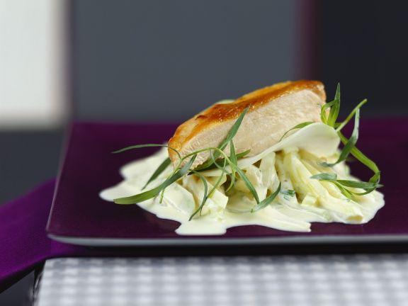 Hähnchenbrust mit Kohlrabigemüse