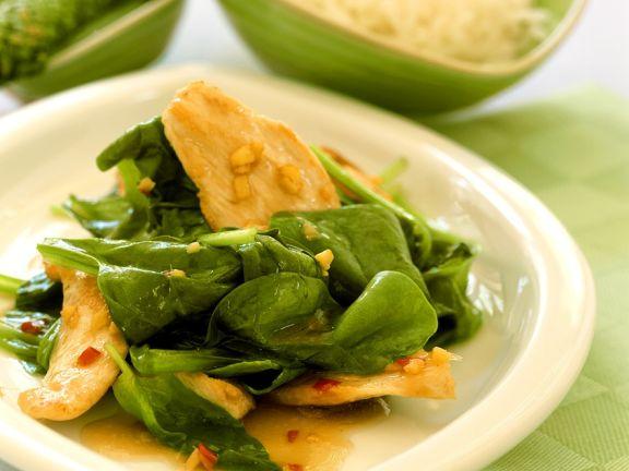 Hähnchenbrust mit Spinat