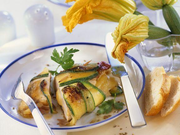 Hähnchenbrust mit Zucchini