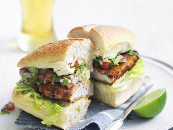 Hähnchenbrust-Sandwich