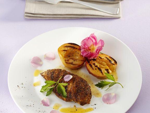 Sommerküche Hähnchen : Hähnchenbrust und pfirsich vom grill rezept eat smarter
