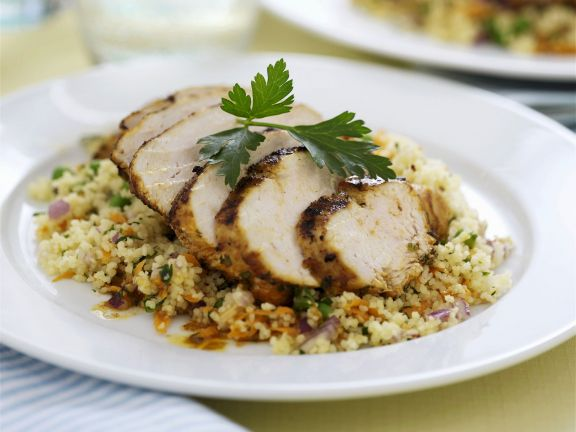 Hähnchenbrustfilet mit Couscous