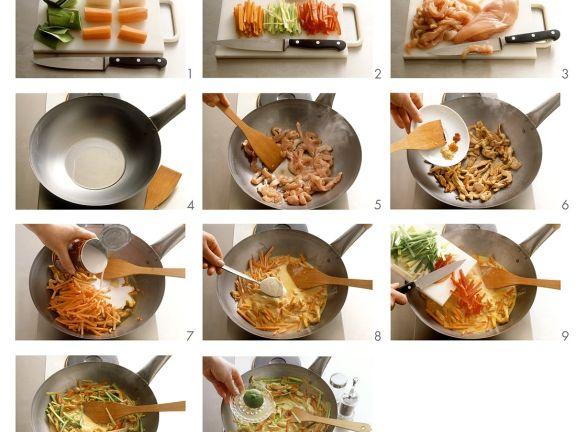 Hähnchencurry mit Gemüse