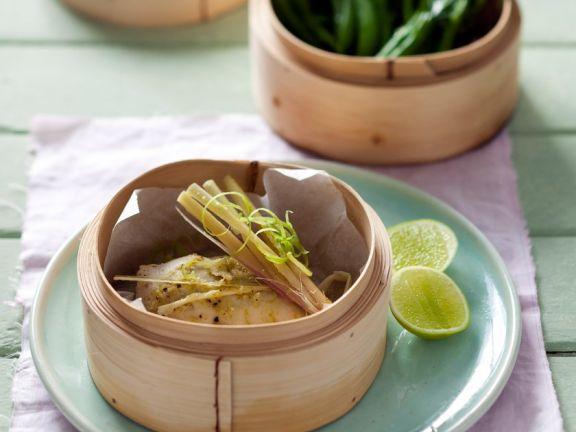 Hähnchenfilet mit Wasabi und Kefen