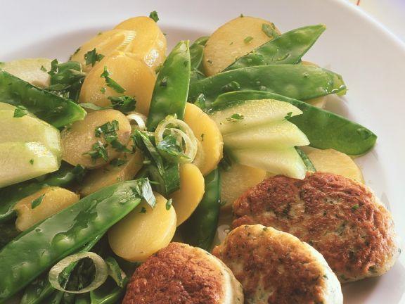 Hähnchenfrikadellen mit Kartoffelsalat
