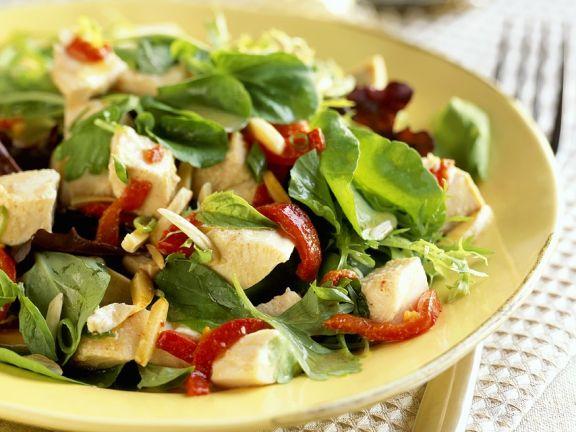 Hähnchensalat mit Spinat