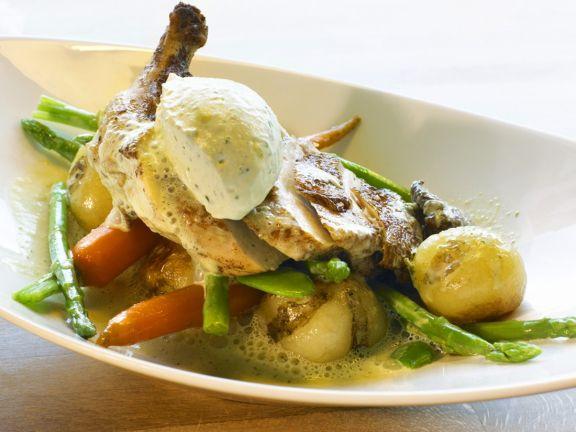 Hähnchenschenkel mit Gemüse
