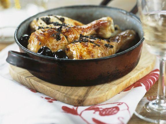 Hähnchenschlegel mit Oliven