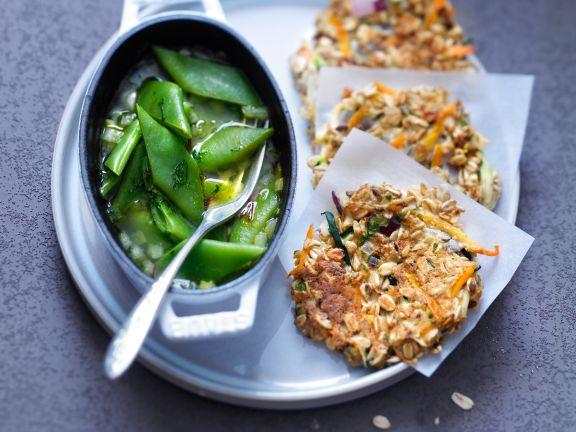 Hafer-Gemüse-Bratlinge mit Bohnen