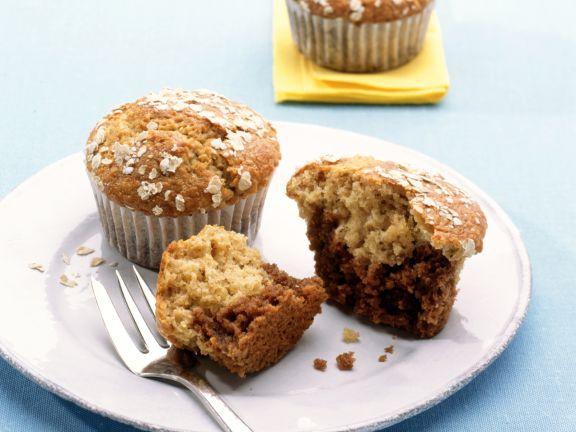 Haferflocken-Marzipan-Muffins