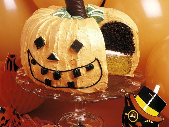 Halloween Kurbis Schichttorte Rezept Eat Smarter