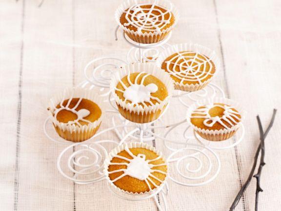 Halloween-Muffins mit Glasur