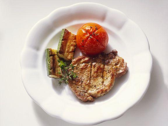 Halsgrat mit Gemüse