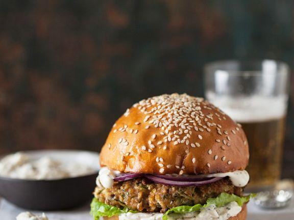 Hamburger mit Frischkäse