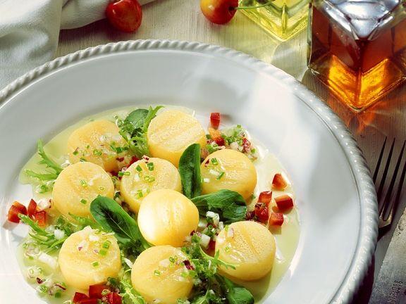 Hazer Käse mit Salat