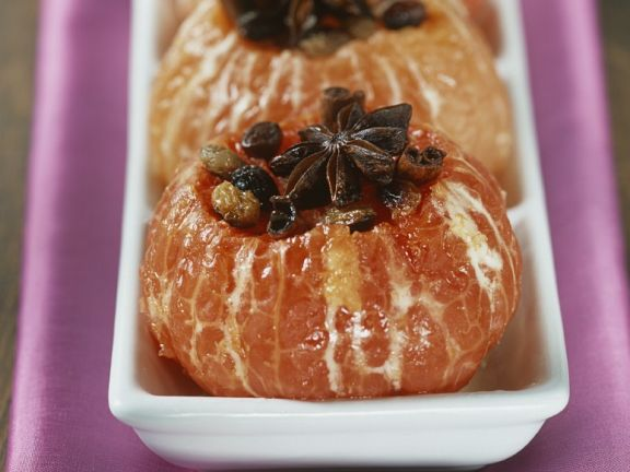 Heiße Gewürz-Grapefruits