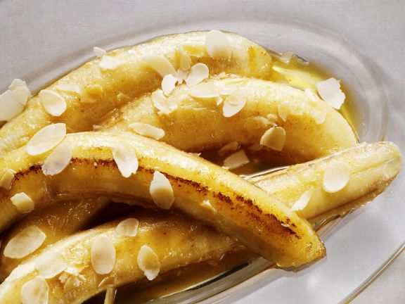Heiße Honig-Bananen