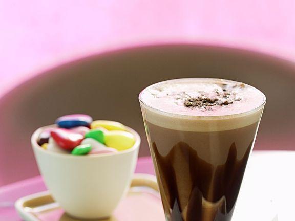 Heiße Kaffee-Schokolade