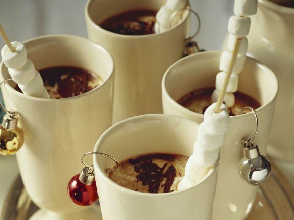 Heiße Schokolade mit Marshmellows