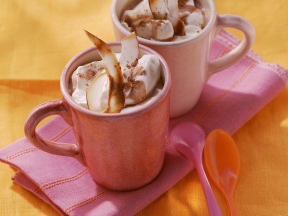 Heiße Schokolade mit Tee