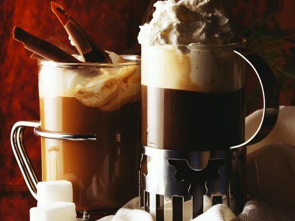 Heiße Schokoladengtränke