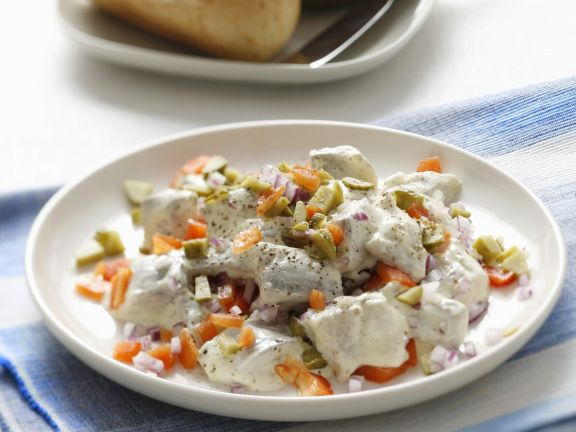 Herings-Paprika-Salat mit Mayonnaise