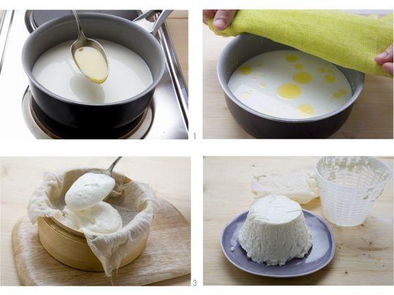 Herstellung von Frischkäse