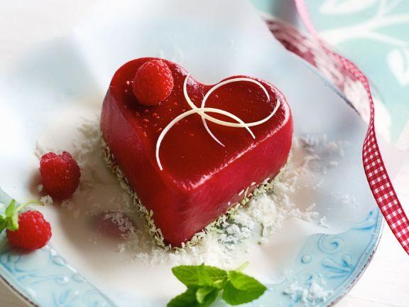 Herz aus Fruchtgelee
