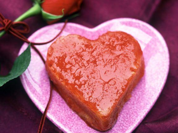 Herz-Savarin mit Orangensirup