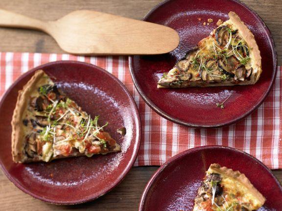 Herzhafte Tarte mit Pilzen